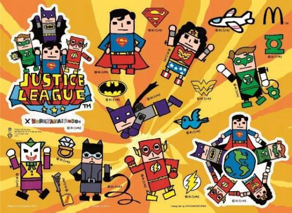 超級英雄特別版貼紙。