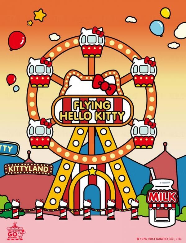 Hello Kitty摩天輪象徵著時代的變化和陪伴我們成長的純真夢想。在摩天輪前和Sanrio好友們拍下這瞬間,留住甜美的回憶吧