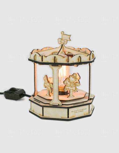 旋轉木馬燈飾連愛迪生燈膽 $560