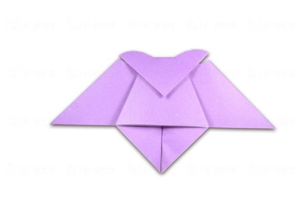 萬聖節摺紙作品_吸血蝙蝠
