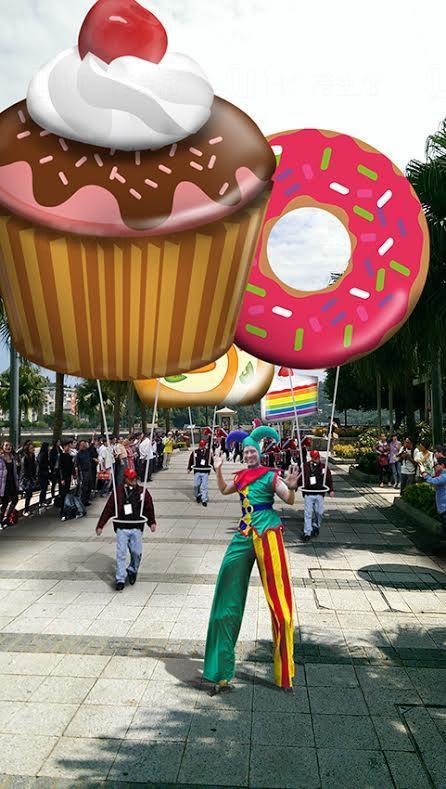 巨型甜品氣球飛天巡遊