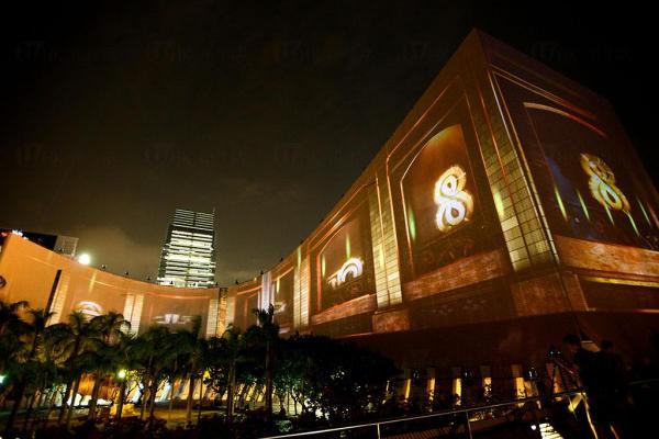 香港昔日的火車站@「閃躍維港」3D光雕匯演