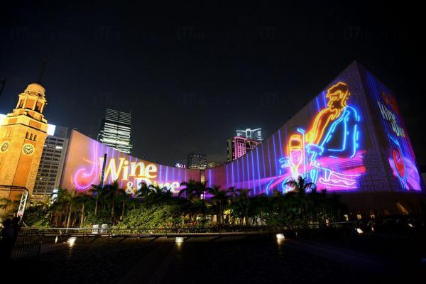 Wine&Dine2014@「閃躍維港」3D光雕匯演