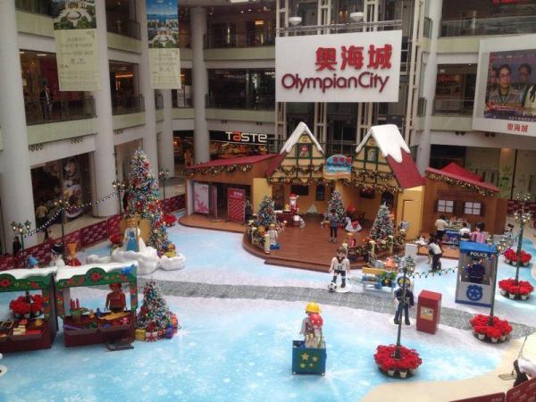 奧海城打造「Playmobil聖誕小鎮」,一盒盒的Playmobil玩具將會搖身一變成為巨型聖誕小鎮。