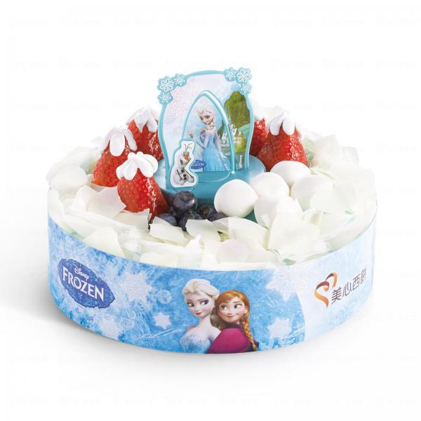 魔雪奇緣1.5磅雜果蛋糕。