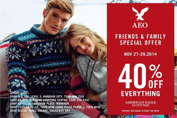 American Eagle Outfitters員工優惠低至6折