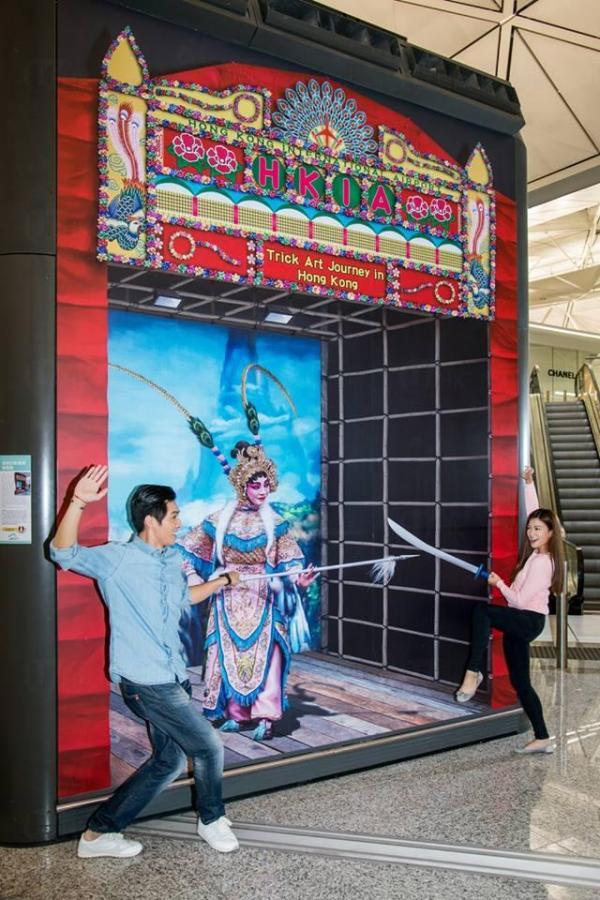 香港國際機場立體畫 -粵劇大戲棚