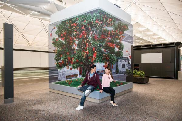 香港國際機場立體畫 - 大埔林村許願樹