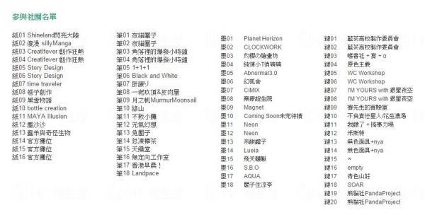 香港原創同人誌Only平面圖