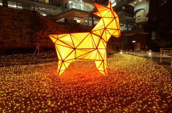 4米巨羊花燈燈海