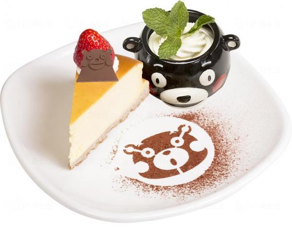 Kumamon 芝士蛋糕 配迷你軟雪糕 $69