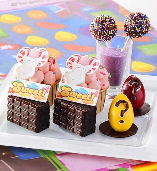 第二層:Colour Bomb (朱古力棒棒)、Sugary Shire (草莓杯子蛋糕)、神秘蛋、Chocolate Blocker (朱古力蛋糕)