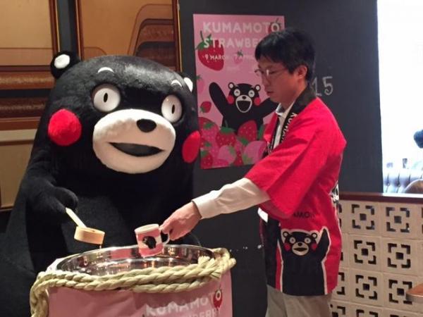 Kumamon部長到WIRED CAFÉ銅鑼灣店舉行開幕禮。