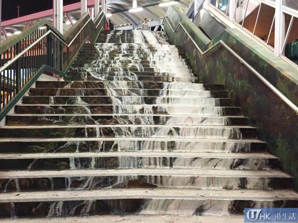 中上環壁畫外 荃灣再發現油畫樓梯 (未完成的爆布)