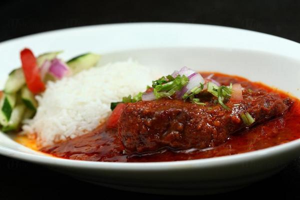 印度牛面頰秋葵咖喱配飯及印式沙律