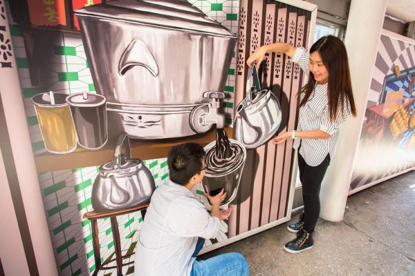 黃錫煌「街頭風味」系列   (圖: FB@Hong Kong Tramways 香港電車)
