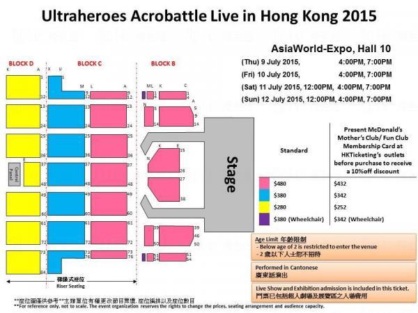「ULTRA HEROES ACROBATTLE LIVE IN HONG KONG 2015」(圖: 官方圖片)