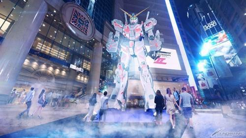 全新設計巨大高達模型將8月降臨時代廣場 (圖: 官方網頁)