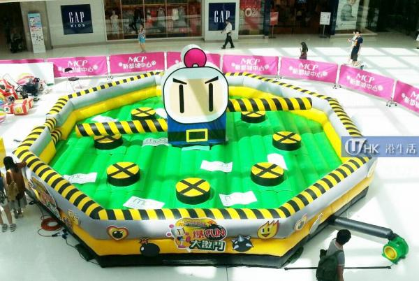 真實版炸彈人! 全個首個Bomberman充氣障礙賽