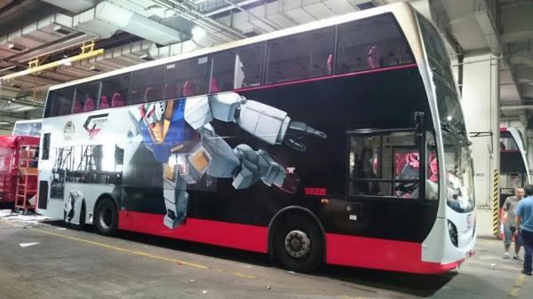 超型!機動戰士高達巴士 穿梭港九新界 (圖:FB@柏斯敦巴士台)