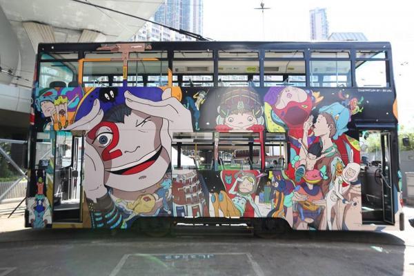 漫遊港島! 動漫電車正式啟航(圖:fb@Hong Kong Arts Centre )