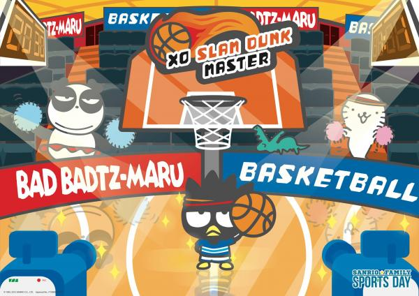 Bad Badtz-Maru(XO)充氣籃球架 (圖:FB@sanriofamilysportsday)