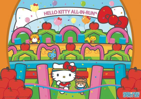 Hello Kitty充氣障礙賽 (圖:FB@sanriofamilysportsday)