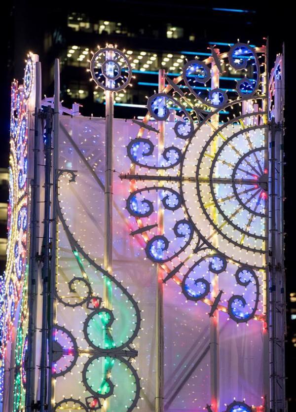 AIA友邦歐陸嘉年華2015聖誕手工燈飾 (圖:FB@TGECAsia )