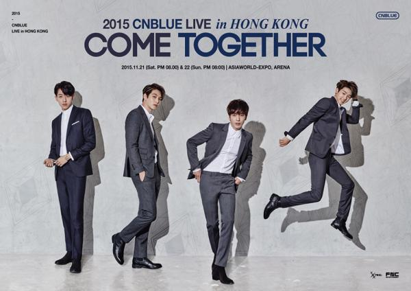 CNBLUE《COME  TOGETHER》Live in Hong Kong(圖:FB@CNBLUE)