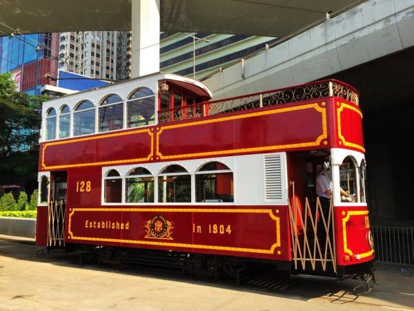 紅色古典電車  (圖:FB@Tram Party)