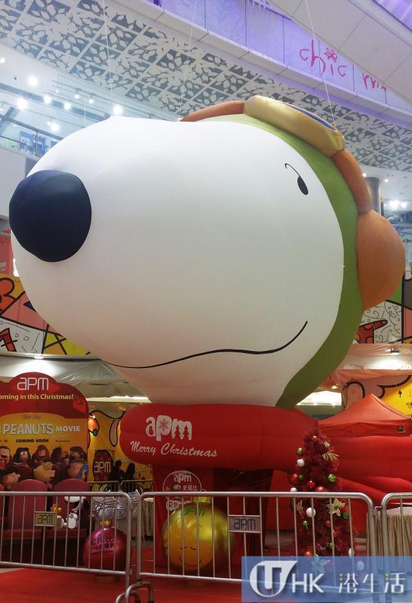 史諾比飛越夢想聖誕 30呎高Snoopy飛船登陸apm