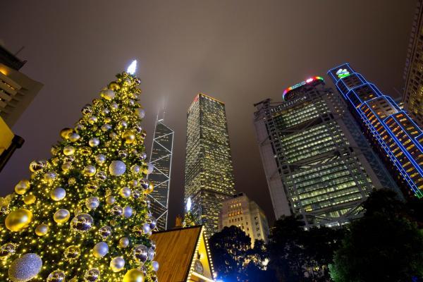 皇后像廣場 燈光藝術裝置閃耀冬日 (FB@香港逗陣行)