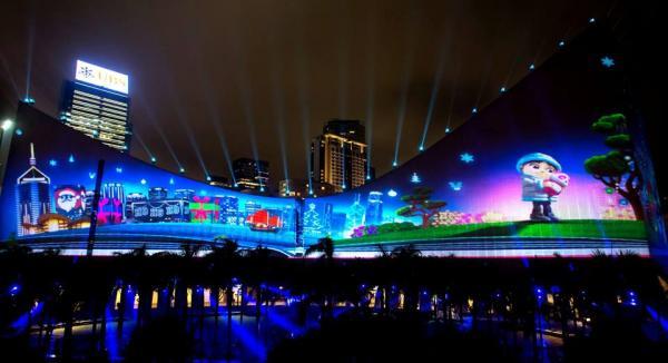 「閃躍維港」聖誕版3D光雕匯演