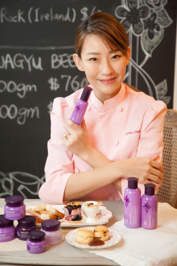 星級名廚Esther Sham將與韓牌Innisfree合作,設計8款既富有韓式滋味而又具養顏功效的「蘭花法式下午茶套餐」。