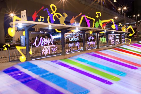 彩色城市! 中環光影塗鴉展@港澳碼頭電車站