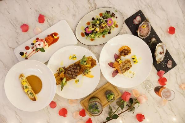 Marbling by Mr. Steak以六款鮮花譜成的花樣之戀二人晚餐