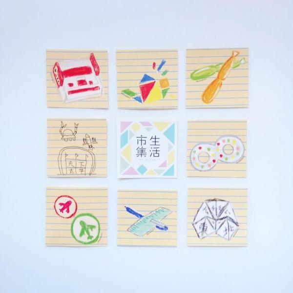 大會設計的8款主題貼紙(圖: fb@市集生活 Life Market)