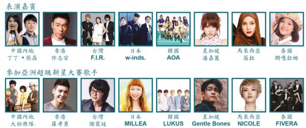 w-inds、AOA出演!香港亞洲流行音樂節2016