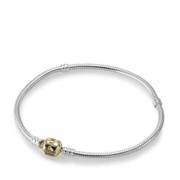 PANDORA_Two tone bracelet with 14k gold clasp