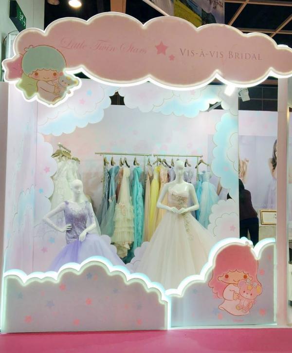 Little Twin Stars推出婚紗晚裝系列(圖:FB@Sanrio Hong Kong)