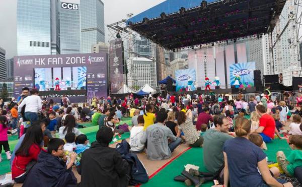 中環七欖派對 大熒幕直播球賽 (圖:Hong Kong Sevens網站)