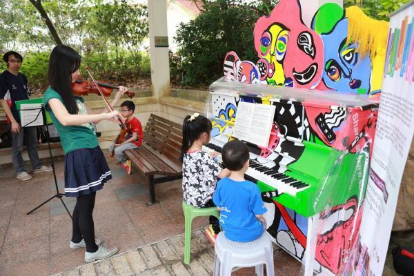 葵青區青衣公園所擺放的鋼琴。(圖: fb@PMQ元創方)