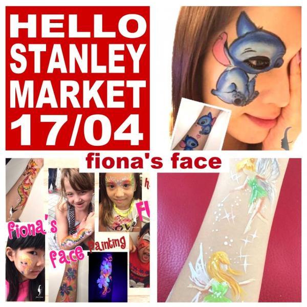 Fiona的紋身彩繪。(圖: fb@Hello Stanley Market)