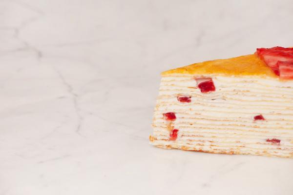 「士多啤梨千層蛋糕」(Strawberry Mille Crêpes)