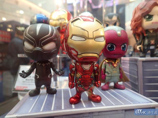 Iron Man 陣營迷你珍藏人偶,單售$98元;一套六款售$530元
