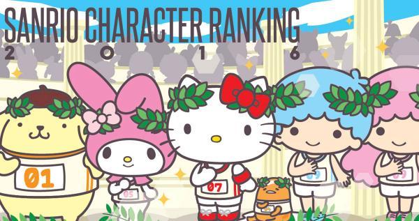送限定版明信片!Sanrio卡通人物投票設票站