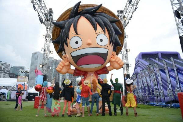 One Piece海賊王水上嘉年華 必影8米烈陽號+7米路飛