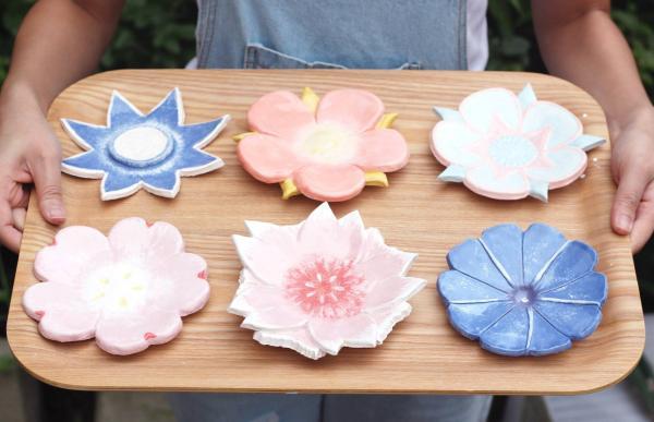 親手捏出美觀又實用花碟!大埔陶瓷花碟工作坊(圖:FB@泥塵記 Lai Chan Kee)