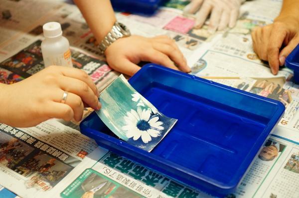 藍曬明信片工作坊