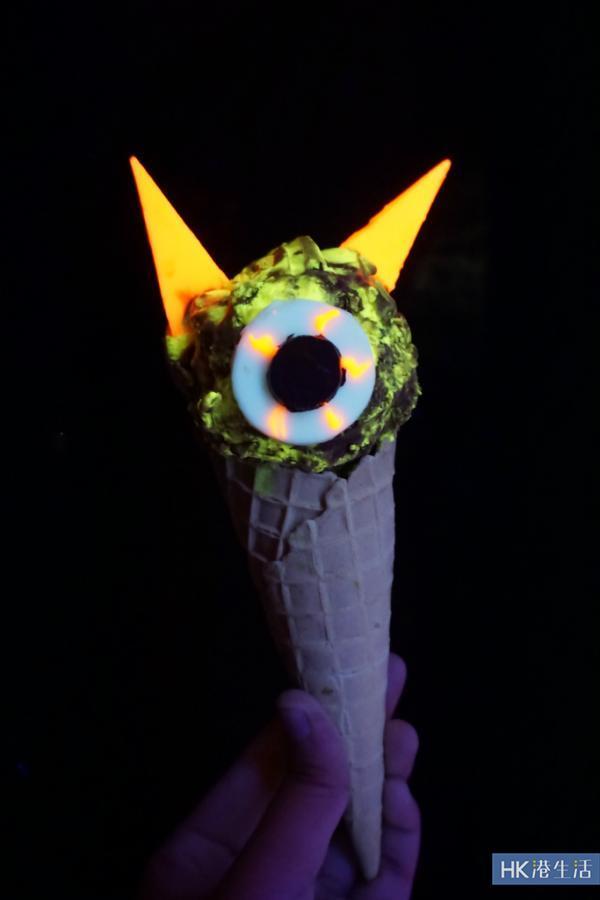 萬聖節限定!熒光型爆怪獸雪糕